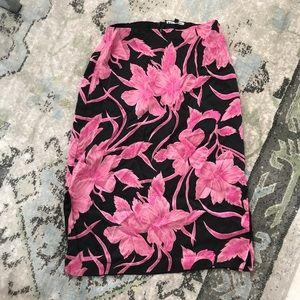 Betsey Johnson silk floral print skirt